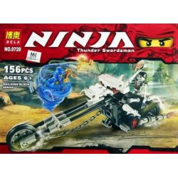 Bela 9728 (NOT Lego Ninjago Movie 2259 Skull Motorbike ) Xếp hình Xe Máy Skull 157 khối