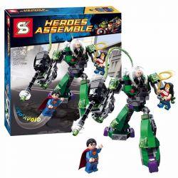 SHENG YUAN SY SY330 Xếp hình kiểu Lego DC COMICS SUPER HEROES Superman Vs. Power Armor Lex Secret Space Voyager Superman War Armor 超人大战铁甲卢瑟 gồm 2 hộp nhỏ 207 khối
