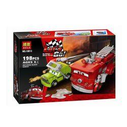 NOT Lego CARS 9484 Red's Water Rescue Racing Mobilization Red Rescue Water , Bela 10013 Lari 10013 Xếp hình Cứu Nạn Nước Của Red 199 khối