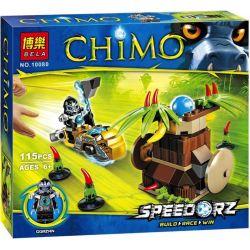 Bela 10080 Lari 10080 Xếp hình kiểu Lego LEGENDS OF CHIMA Banana Bash Qigong Legend Banana Strike Cú đánh Chuối 120 khối
