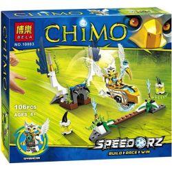 Bela 10083 Lari 10083 Xếp hình kiểu Lego LEGENDS OF CHIMA Sky Launch Legend Of Qigong Sky Overall Chim ưng Cất Cánh 111 khối