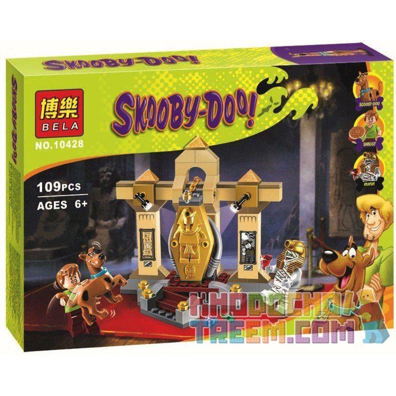 Bela 10428 (NOT Lego Scooby-Doo 75900 Mummy Museum Mystery ) Xếp hình Bảo Tàng Xác Ướp Bí Ẩn 110 khối