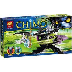Bela 10073 Lari 10073 Xếp hình kiểu Lego LEGENDS OF CHIMA Braptor's Wing Striker Qigong Legend Bat Rui Special Airfoil Attack Machine Máy Bay Tấn Công Của Braptor 146 khối