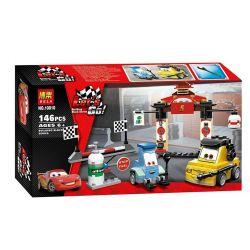 Bela 10010 Lari 10010 Xếp hình kiểu Lego CARS Tokyo Pit Stop Guido Racing Mobilization Tokyo Repair Station Trạm Dừng Chân Tokyo gồm 2 hộp nhỏ 147 khối