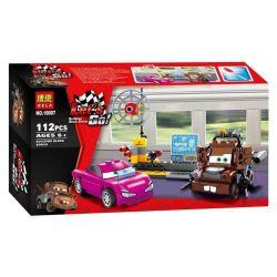 Bela 10007 Lari 10007 Xếp hình kiểu Lego CARS Mater's Spy Zone Racing Mobilization The Agent Experience Khu Vực Spy Của Mater 114 khối