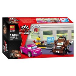 NOT Lego CARS 8424 Mater's Spy Zone Racing Mobilization The Agent Experience , Bela 10007 Lari 10007 Xếp hình Khu Vực Spy Của Mater 114 khối