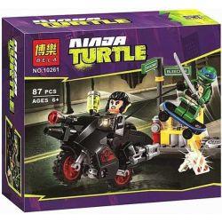Bela 10261 Lari 10261 Xếp hình kiểu Lego TEENAGE MUTANT NINJA TURTLES Karai Bike Escape Ninja Turtle Karai Motel Escape Trốn Khỏi Phòng Thí Nghiệm 88 khối