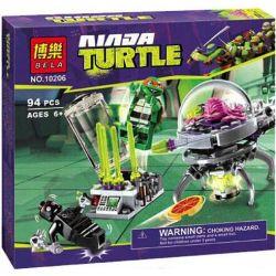 Bela 10206 Lari 10206 Xếp hình kiểu Lego TEENAGE MUTANT NINJA TURTLES Kraang Lab Escape Ninja Turtle Laboratory Escape Cuộc Tẩu Thoát Của Kraang Lab 90 khối