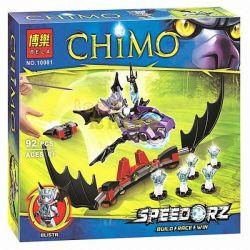 Bela 10081 Lari 10081 Xếp hình kiểu Lego LEGENDS OF CHIMA Bat Strike Qigong Legend Bat Attack Dơi Tấn Công 97 khối