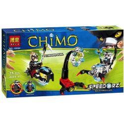 Bela 10084 Lari 10084 Xếp hình kiểu Lego LEGENDS OF CHIMA Stinger Duel Qigong Legend Toxicon Duel Chiến Xa Bò Cạp 85 khối