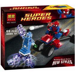 Bela 10237 Lari 10237 Xếp hình kiểu Lego MARVEL SUPER HEROES Spider-Trike Vs. Electro Spider-Man Vs Lightning Người Nhện Và Người điện 70 khối