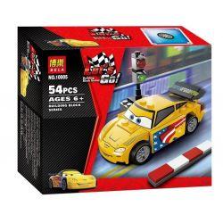 Bela 10005 (NOT Lego Cars 9481 Jeff Gorvette ) Xếp hình Jeff Gorvette 54 khối