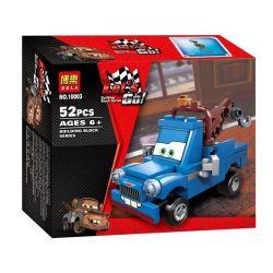 Bela 10003 Lari 10003 Xếp hình kiểu Lego CARS Ivan Mater Racing Mobilization Blue Plate Teeth Xe Tải Ngờ Ngệch 52 khối