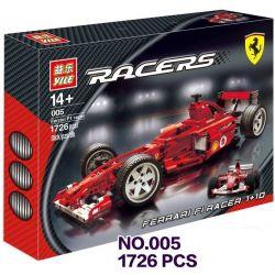NOT Lego RACERS 8386 Ferrari F1 Racer 1:10, Decool 3334 Jisi 3334 YILE 005 Xếp hình Xe đua công thức 1 tỉ lệ 1:10 738 khối
