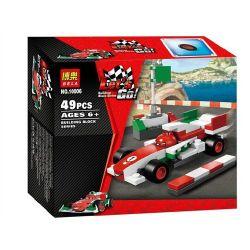 Bela 10006 Lari 10006 Xếp hình kiểu Lego CARS Francesco Bernoulli Racing Story Francesco F1 Racing Xe đua Hoạt Hình 49 khối