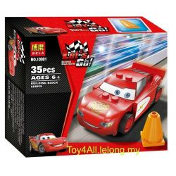 Bela 10001 Lari 10001 Xếp hình kiểu Lego CARS Radiator Springs Lightning McQueen Racing Story McCo In The Water Tank Hot Spring Town Cần Dịch 35 khối