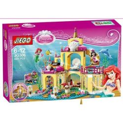 NOT LEGO Disney Princess 41063 Ariel's Undersea Palace, BELA LARI 10436 Jiego JG306 Lele 79278 Lepin 25016 Lezi 97023 QUEEN 85014 Sheng Yuan SY 374 SY374 SX 3011 Xếp hình lâu đài dưới nước của nàng ti