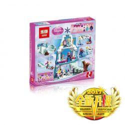 NOT LEGO Disney Princess 41062 Elsa's Sparkling Ice Castle, BELA LARI 10435 Beninki BQ9001 Jiego JG301 Lele 79168 Lepin 25005 Lezi 97020 Mingge MG122 Sheng Yuan SY 373 SY373 SX 3003 Xếp hình lâu đài b