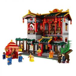 XINGBAO XB-01003 01003 XB01003 Xếp hình kiểu Lego CHINATOWN China Town Yihong Brothel China Street Yihongyuan Kỹ Viện Lầu Xanh 3320 khối