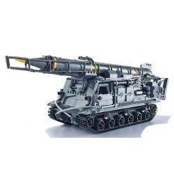 Xingbao XB-06005 (NOT Lego Military Army 8U218 Tel 8K11 ) Xếp hình Tên Lửa 8U218 Tel 8K11 1750 khối