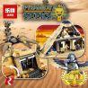 Lepin 31001 (NOT Lego Pharaoh's Quest 7327 Scorpion Pyramid ) Xếp hình Kim Tự Tháp Của Vua Bọ Cạp 822 khối