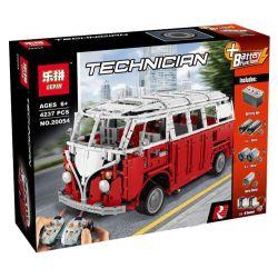 LEPIN 20054 REBRICKABLE MOC-5168 5168 MOC5168 MOC-5169 5169 MOC5169 Xếp hình kiểu Lego TECHNIC Volkswagen Type 2 T1 Bus MANUAL Xe ô Tô Cắm Trại gồm 2 hộp nhỏ 3471 khối điều khiển từ xa