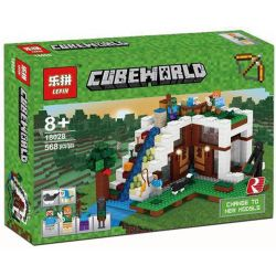 Decool 829 Bela 10624 Lepin 18028 Lele 33052 (NOT Lego Minecraft 21134 The Waterfall Base ) Xếp hình Nhà Trên Đỉnh Thác 729 khối