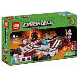 Lepin 18024 Decool 825 Bela 10620 Lele 33054 (NOT Lego Minecraft 21130 The Nether Railway ) Xếp hình Đường Sắt Trong Hầm 387 khối