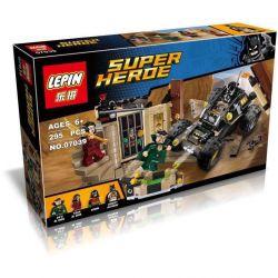 LEPIN 07039 Xếp hình kiểu Lego DC COMICS SUPER HEROES Batman Rescue From Ra's Al Ghul Batman Rescue Task Người Dơi Giải Cứu Robin Khỏi Sào Huyệt Ra's Al Ghul 257 khối