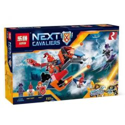 Bela 10701 Lari 10701 LEPIN 14038 Xếp hình kiểu Lego NEXO KNIGHTS Macy's Bot Drop Dragon Messi's Mechanical Dragon Rồng Bot Drop Của Macy 153 khối