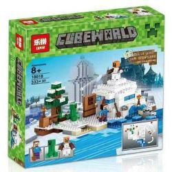 Bela 10391 Lari 10391 BLX 81055 LELE 79145 LEPIN 18018 ZIMO ZM604 Xếp hình kiểu Lego MINECRAFT The Snow Hideout My World Snow Hiding Trốn Tìm Trong Tuyết 327 khối