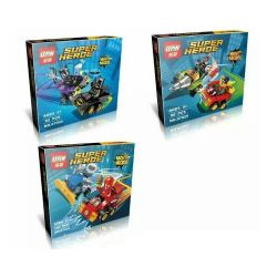 Lepin 07035 (NOT Lego DC Comics Super Heroes 76061 76062 76063 Mighty Micros: Batman Vs. Catwoman Mighty Micros: Robin Vs. Bane Mighty Micros: The Flash Vs. Captain Cold ) Xếp hình 3 Bộ Nhỏ 285 khối