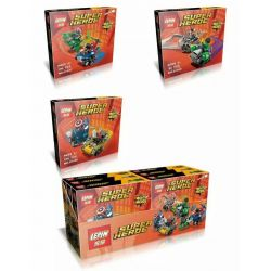 Lepin 07036 (NOT Lego Marvel Super Heroes 76064 76065 76066 Mighty Micros: Spider-Man Vs. Green Goblin Mighty Micros: Captain America Vs. Red Skull Mighty Micros: Hulk Vs. Ultron ) Xếp hình 3 Bộ Nhỏ 301 khối