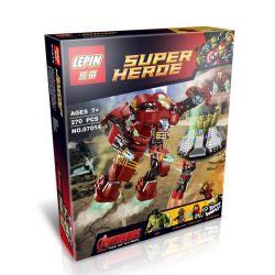 Decool 7110 Jisi 7110 LELE 79081 LEPIN 07014 SHENG YUAN SY 357 SY357 XINH 8019 Xếp hình kiểu Lego MARVEL SUPER HEROES The Hulk Buster Smash Haoke Manicor Kìm Chế Người Khổng Lồ Xanh Nổi điên 248 khối
