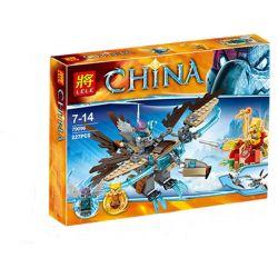 NOT LEGO Legends of Chima 70141 Vardy's Ice Vulture Glider, BELA LARI 10291 Lele 79096 Xếp hình Chim ưng băng của Vardy 217 khối