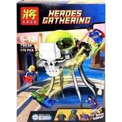 LEPIN 07005 Xếp hình kiểu Lego DC COMICS SUPER HEROES Brainiac Attack Branek Attack Tấn Công Brainiac 179 khối