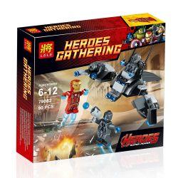 LEPIN 07012 Xếp hình kiểu Lego MARVEL SUPER HEROES Iron Man Vs. Ultron Iron Man Wars Ouchong Legion Iron Man Vs. Ultron 90 khối