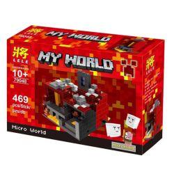 LELE 79048 Xếp hình kiểu Lego MINECRAFT The Nether My World Micro World Hell Địa Ngục 469 khối