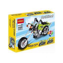 Decool 3109 Miniso 10716 (NOT Lego Creator 31018 Highway Cruiser ) Xếp hình 3 Dạng Mô Tô Xe Máy 129 khối
