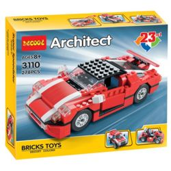 Decool 3110 Jisi 3110 (NOT Lego Creator 5867 Super Speedster ) Xếp hình Xe Đua, Xe Thể Thao, Xe Suv 278 khối
