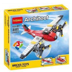 Decool 3111 Little Companion 207 (NOT Lego Creator 7292 Propeller Adventures ) Xếp hình Máy Bay Phản Lực, Thể Thao, Xuồng Cao Tốc 241 khối