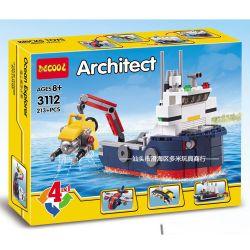 Decool 3112 (NOT Lego Creator 4 in 1 31045 Ocean Explorer ) Xếp hình Khám Phá Đại Dương 213 khối