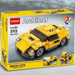 Decool 3113 (NOT Lego Creator 4939 Cool Cars ) Xếp hình Xe Địa Hình, Xe Đua, Xe Tải 206 khối