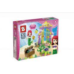 SHENG YUAN SY SY320 Xếp hình kiểu Lego DISNEY PRINCESS Ariel's Amazing Treasures Alice's Fantasy Treasure Kho Báu Của Nàng Tiên Cá 77 khối