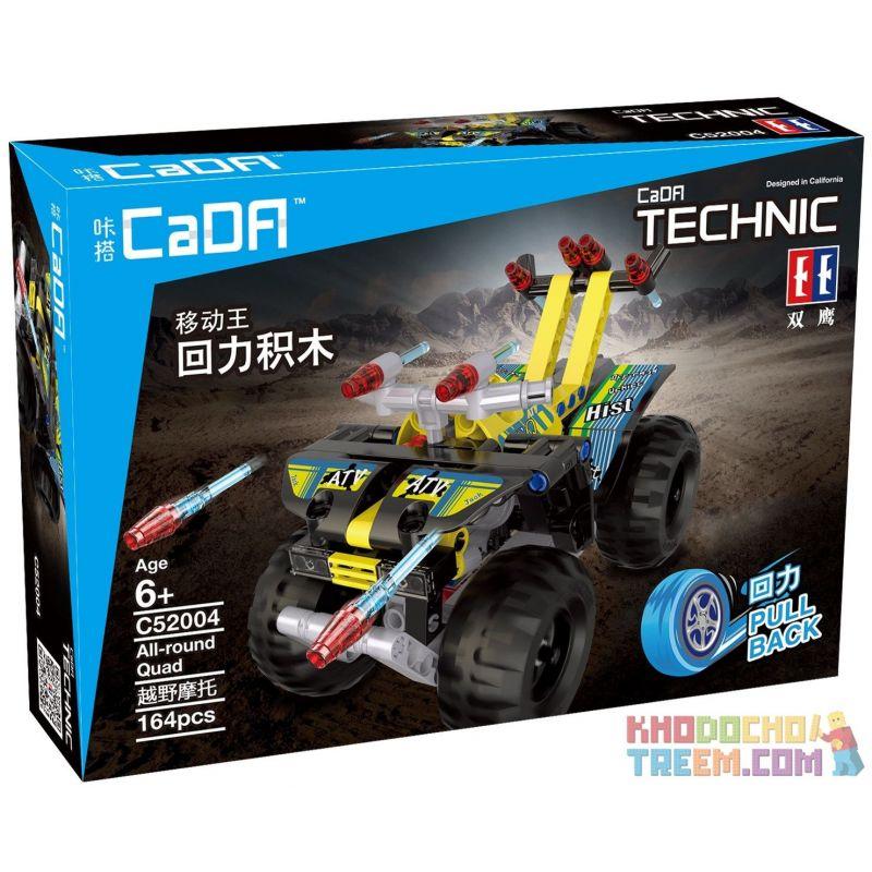 Decool 3416 Doublee Cada C52004 C52004W Qunlong QL0400 (NOT Lego Technic 42034 Quad Bike ) Xếp hình Xe Mô Tô 4 Bánh Kéo Thả 148 khối