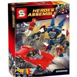 Bela 10674 Lari 10674 SHENG YUAN SY SY875 Xếp hình kiểu Lego MARVEL SUPER HEROES Iron Man Detroit Steel Strikes Iron Man Detroit Steel Armor Attack Người Sắt đại Chiến Người Máy Thép 377 khối