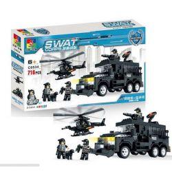 Woma C0534 (NOT Lego SWAT Special Force Swat Helicopter & Suv ) Xếp hình Trực Thăng Và Xe Bọc Thép Đặc Nhiệm 716 khối