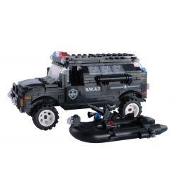 WOMA C0528 0528 Xếp hình kiểu Lego SWAT SPECIAL FORCE SWAT Crocodile Swamp Patrol Đặc nhiệm vùng đầm lầy 389 khối