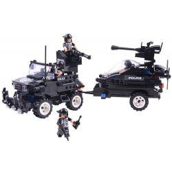 WOMA C0530 0530 Xếp hình kiểu Lego SWAT SPECIAL FORCE SWAT Fearless River Patrol Team Đặc nhiệm vùng sông 448 khối