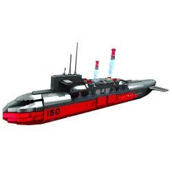 Woma C0150 (NOT Lego Military Army Nuclear Submarines ) Xếp hình Tàu Ngầm Hạt Nhân 569 khối